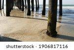 Wooden Piles Under Boardwalk ...