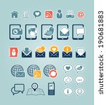 communication icons | Shutterstock .eps vector #190681883