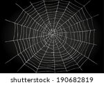 illustration of spiderweb | Shutterstock .eps vector #190682819