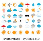 weather icons vector... | Shutterstock .eps vector #1906831510