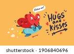 couple in love. two happy...   Shutterstock .eps vector #1906840696