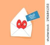romantic love letters for her...   Shutterstock .eps vector #1906841353