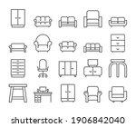 furniture icon. home interior...   Shutterstock .eps vector #1906842040