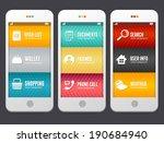 vector flat web design elements.... | Shutterstock .eps vector #190684940