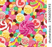seamless colorful vector... | Shutterstock .eps vector #1906850593