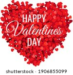valentines day poster with red...   Shutterstock .eps vector #1906855099