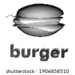 burger isolated on white... | Shutterstock .eps vector #1906858510