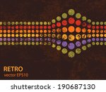 retro background pattern with...   Shutterstock .eps vector #190687130