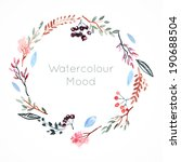 watercolor frame with berries... | Shutterstock . vector #190688504