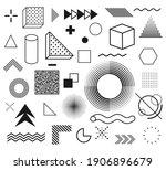 memphis  set of abstract...   Shutterstock .eps vector #1906896679