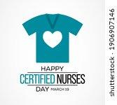 certified nurses day is... | Shutterstock .eps vector #1906907146