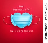 valentine's day and covid 19... | Shutterstock .eps vector #1906917373