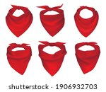 red neck scarves  bandanas ... | Shutterstock .eps vector #1906932703