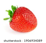 strawberry isolated on white... | Shutterstock . vector #1906934089
