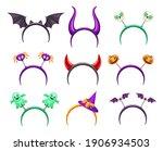 halloween creepy headband with...   Shutterstock .eps vector #1906934503