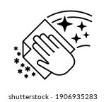 cleaning flat icon. hand of... | Shutterstock .eps vector #1906935283