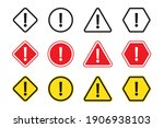 set warning sign  alert icon.... | Shutterstock .eps vector #1906938103