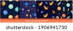 cute space seamless pattern...   Shutterstock .eps vector #1906941730