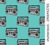 radio seamless pattern in...   Shutterstock .eps vector #1906942783