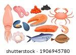 seafood restaurant gourmet menu ... | Shutterstock .eps vector #1906945780