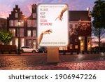 outdoor showcase billboard... | Shutterstock . vector #1906947226