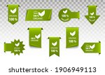 100   organic logo green.... | Shutterstock .eps vector #1906949113