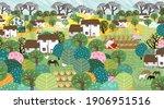 garden  farm  nature and... | Shutterstock .eps vector #1906951516