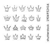 hand drawn crown vector... | Shutterstock .eps vector #1906952416