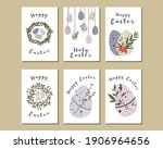 set of easter cards. cute...   Shutterstock .eps vector #1906964656