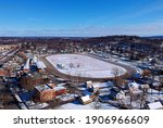 Aerial view of the Historic Goshen Track, Goshen, New York