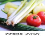 pile of healthy fresh... | Shutterstock . vector #19069699