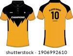 sports polo collar t shirt... | Shutterstock .eps vector #1906992610