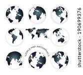 world map illustration  | Shutterstock .eps vector #190699376