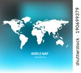 world map illustration  | Shutterstock .eps vector #190699379