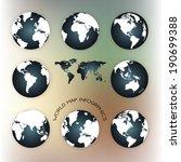 world map illustration    Shutterstock .eps vector #190699388