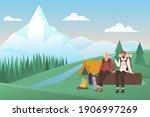 summer camping vacation vector...   Shutterstock .eps vector #1906997269