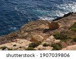Dark Ocean Water Washes The...