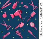 hairdressing supplies and tools....   Shutterstock .eps vector #1907064199