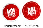 hot price stickers | Shutterstock .eps vector #190710728