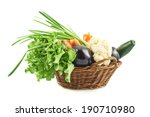 different vegetables in the... | Shutterstock . vector #190710980