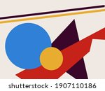 Abstract Colorful Shape Collage....