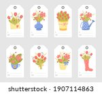 set of romantic gift tags with... | Shutterstock .eps vector #1907114863