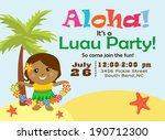 luau party invitation | Shutterstock .eps vector #190712300