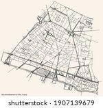 black simple detailed street...   Shutterstock .eps vector #1907139679