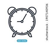 time and clock office icon....