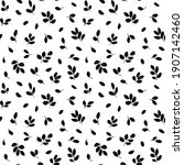hand drawn small leaves vector... | Shutterstock .eps vector #1907142460