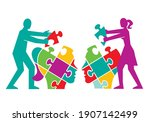 couple psychology of... | Shutterstock .eps vector #1907142499