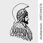 hannibal barca and the elephant ... | Shutterstock .eps vector #1907144176