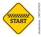 starting line black checkered...   Shutterstock .eps vector #1907147419