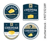 vector cheddar cheese labels...   Shutterstock .eps vector #1907152189